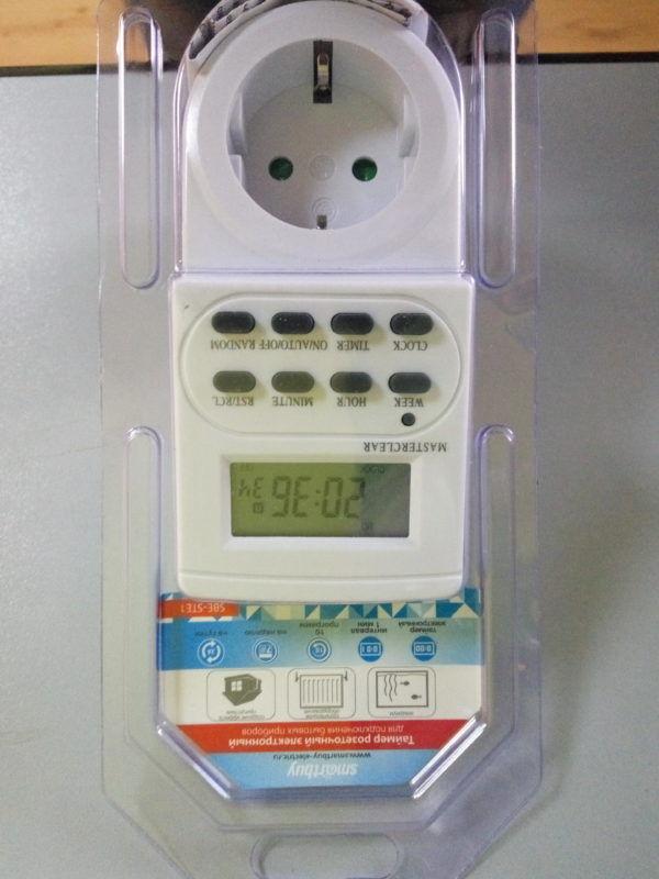 Розетка с таймером электронным Smartbuy (недельный+суточный) 3600Вт 1