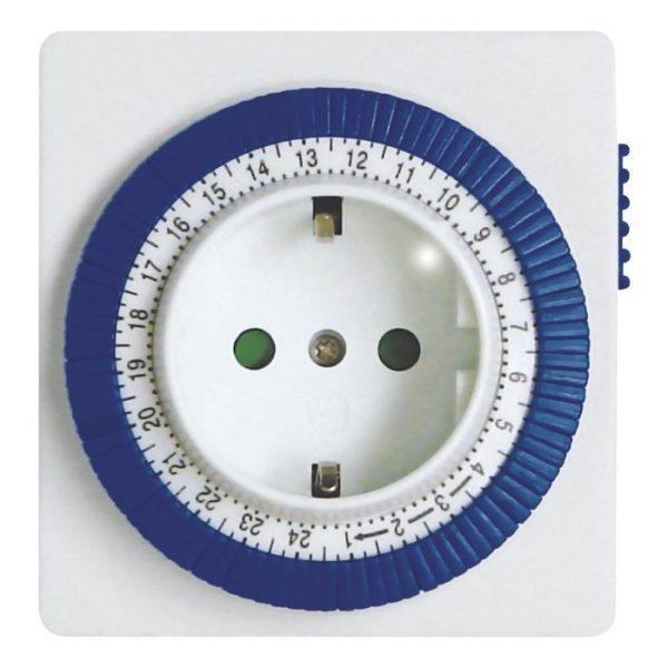 Розетка с таймером механическим Smartbuy 3600Вт, 96 вкл./выкл. сутки, интервал 15 мин 1
