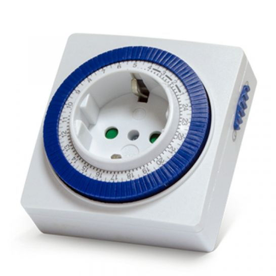 Розетка с таймером механическим Smartbuy 3600Вт, 96 вкл./выкл. сутки, интервал 15 мин 2