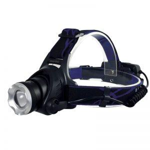 Аккумуляторный налобный фонарь 5 Вт LED Smartbuy, черный/синий