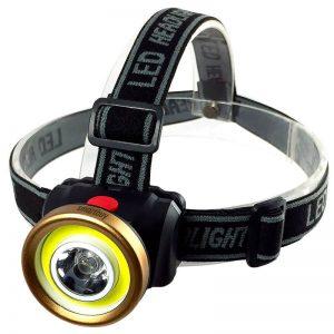 Светодиодный налобный фонарь 1 Вт LED+ 3 Вт COB Smartbuy