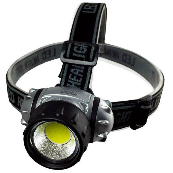 Светодиодный налобный фонарь 1 Вт COB Smartbuy