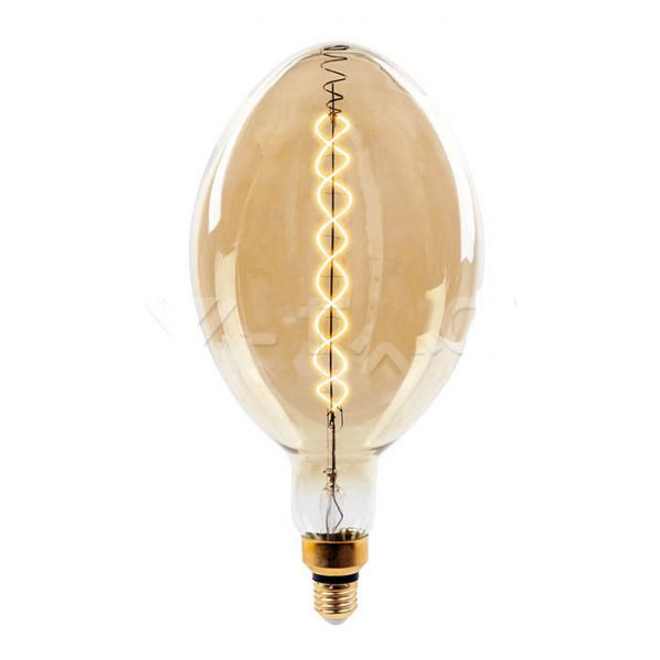 Филаментная лампа диммируемая V-TAC 8 ВТ, 500LM, BF180 янтарное стекло Е27 2000К