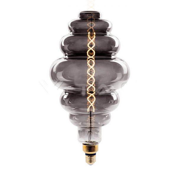 Филаментная лампа диммируемая V-TAC 8 ВТ 350lm S200 дымчатое стекло Е27 2000К