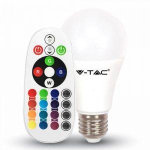 Лампа E27 RGB с пультом управления