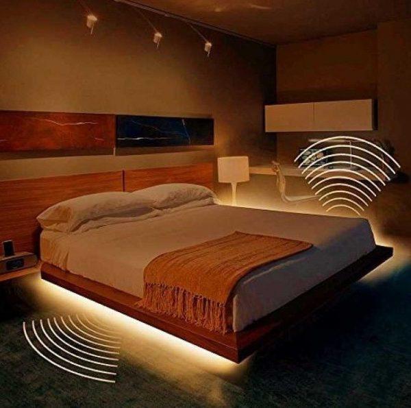 Комплект светодиодной ленты V-TAC под кровать с датчиком движения, 3000К, 12V, IP65 1
