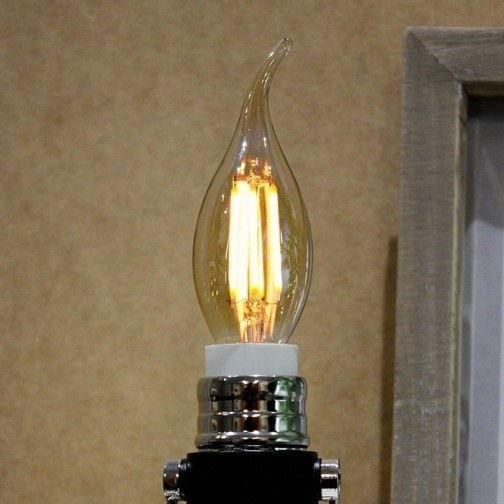 Светодиодная лампа V-TAC 4 Вт пламя свечи янтарное стекло C37 E14 3