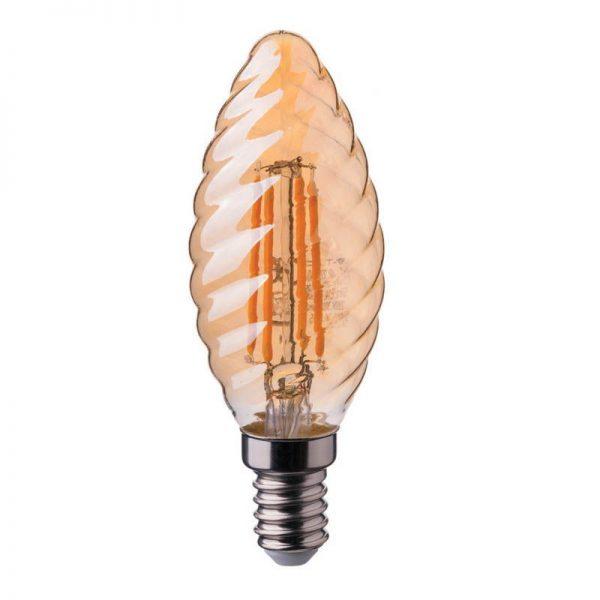 лампочка закрученная свеча