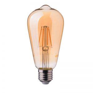 Филаментная лампа V-TAC ST64 янтарное стекло Е27
