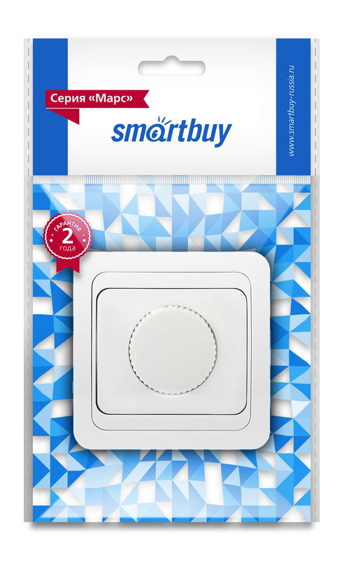 "Светорегулятор 600W 220В белый ""Марс"" Smartbuy 1"