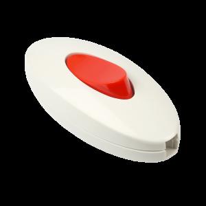 Выключатель Smartbuy, проходной белый/красный, черный/красный 6А 250В