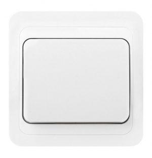 """Выключатель 1-клавишный 10А белый """"Марс"""" Smartbuy"""
