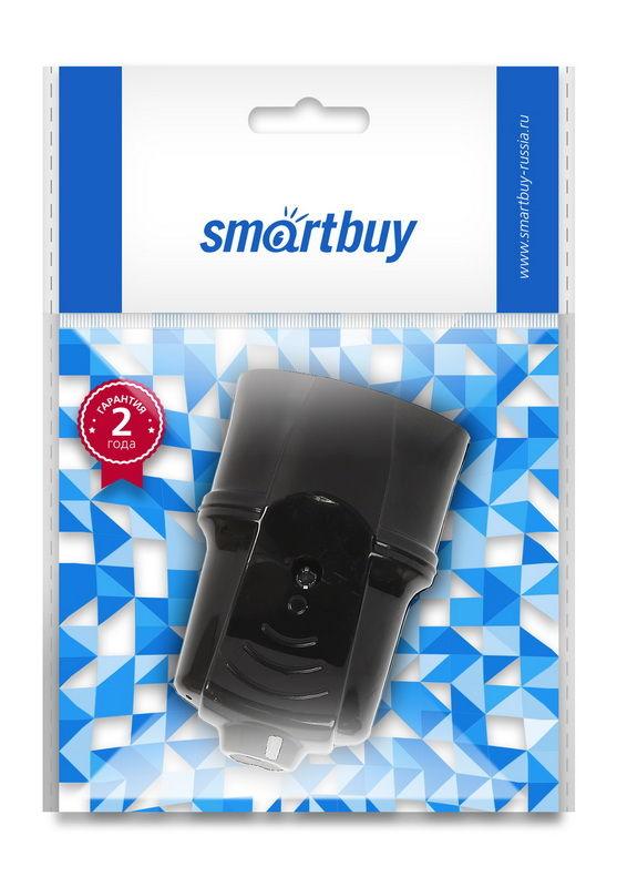 Штепсельное гнездо Smartbuy, с заземлением белое, черное 16А 250В 1