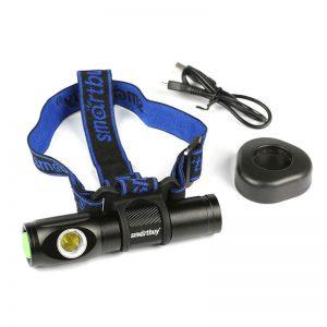 Аккумуляторный светодиодный налобный фонарь Smartbuy 16 Вт
