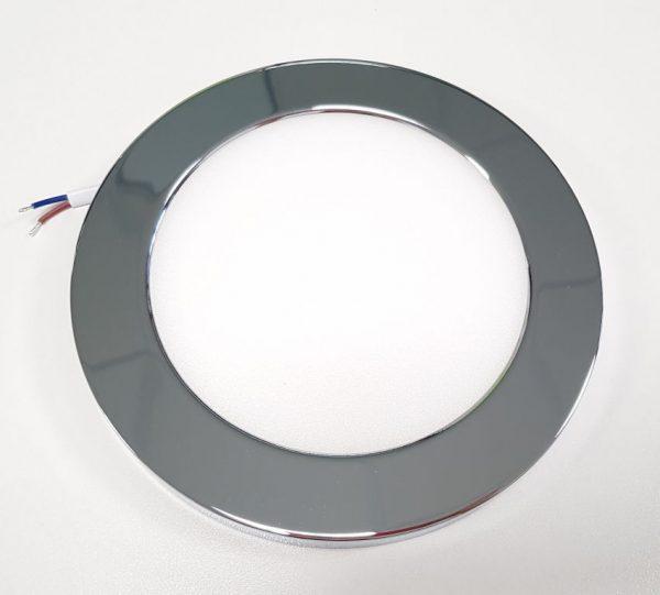 накладной корпус на светильник потолочный цвета хром