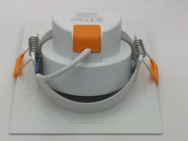 Точечный светильник светодиодный встраиваемый поворотный направленного света, квадратный 4000K 5