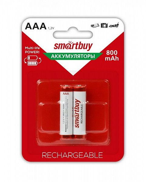 Аккумулятор NiMh Smartbuy AAA/2BL 800 mAh (24/240) 1