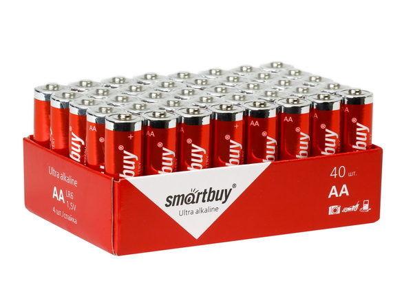 Батарейка алкалиновая Smartbuy LR6/40 bulk (40/720) 1