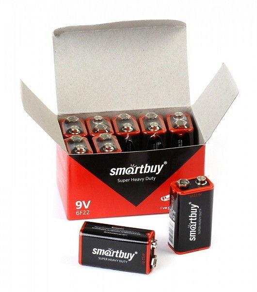 Батарейка солевая Smartbuy 6F22/1S (Крона) 2