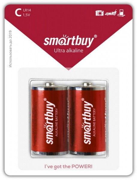 Батарейка алкалиновая Smartbuy LR20/2B (12/96) 1