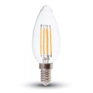 Филоментная лампа свеча