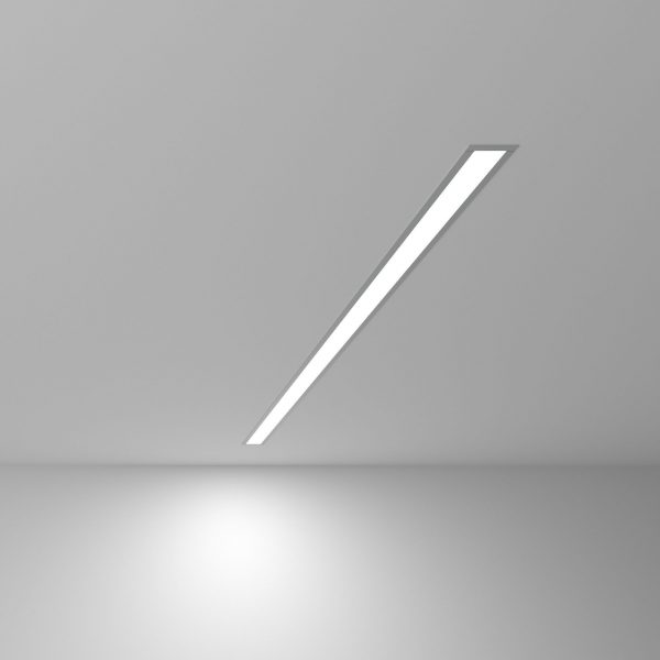 Линейный светодиодный встраиваемый светильник 103см 20Вт матовое серебро 5