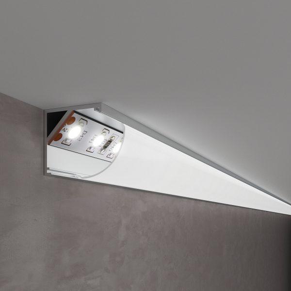 Угловой алюминиевый профиль для светодиодной ленты LL-2-ALP008 1