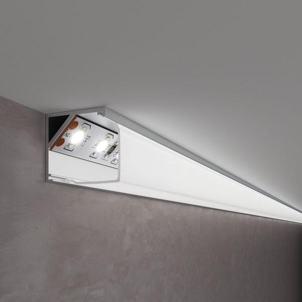Квадратный угловой алюминиевый профиль для светодиодной ленты LL-2-ALP009 1