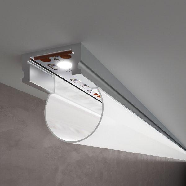 Накладной алюминиевый профиль для светодиодной ленты LL-2-ALP010 1