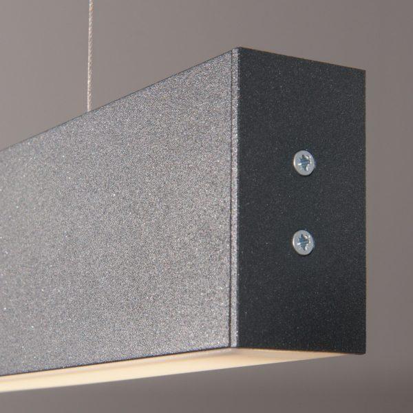 Линейный светодиодный подвесной односторонний светильник 128см 25Вт черная шагрень 2