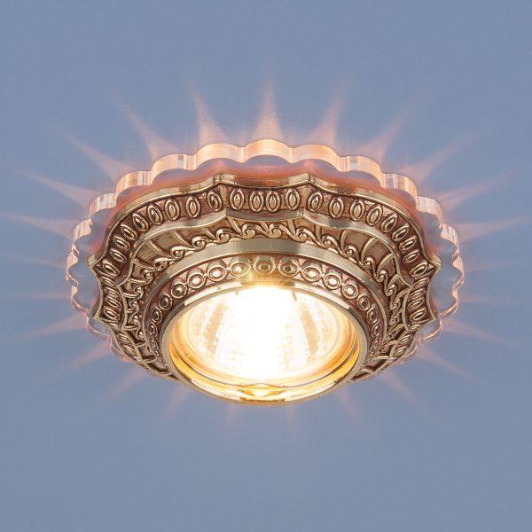 Встраиваемый потолочный светильник 6027 MR16 GD золото