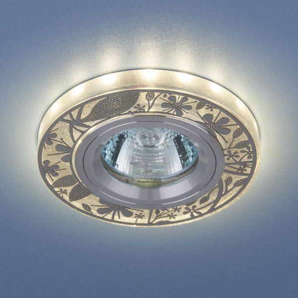 Встраиваемый точечный светильник с LED подсветкой 8096 MR16 SL 1