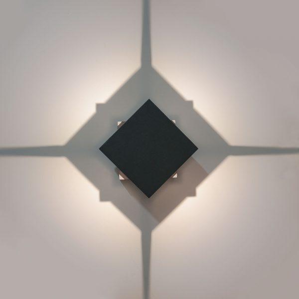 TELLUS графит уличный светодиодный светильник с поворотным механизмом 1606 TECHNO LED 2