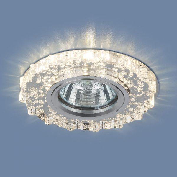 Встраиваемый потолочный светильник с LED подсветкой 2202 MR16 CL прозрачный 1