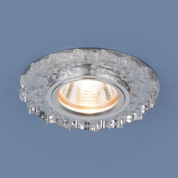 Встраиваемый потолочный светильник с LED подсветкой 2202 MR16 CL прозрачный 2
