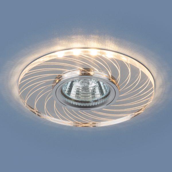 Встраиваемый потолочный светильник с LED подсветкой 2203 MR16 CL прозрачный 1
