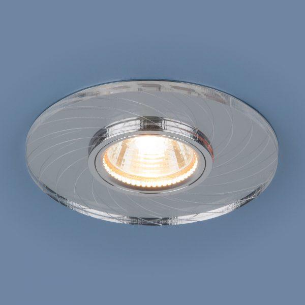 Встраиваемый потолочный светильник с LED подсветкой 2203 MR16 CL прозрачный 2