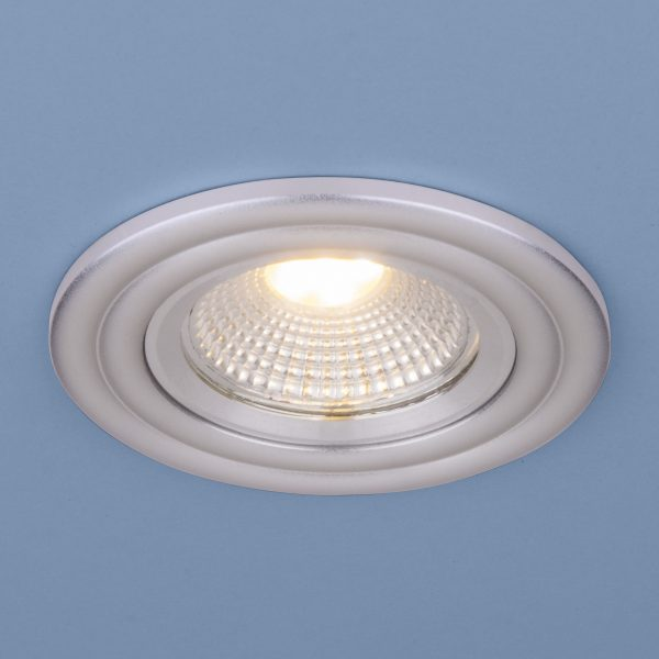Встраиваемый потолочный LED светильник 9902 LED 3W COB SL серебро 1