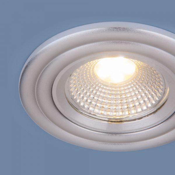 Встраиваемый потолочный LED светильник 9902 LED 3W COB SL серебро 2