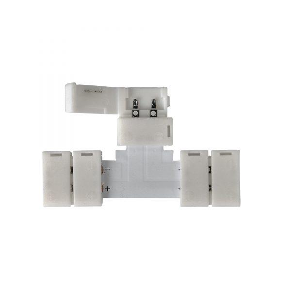 Т-образный коннектор для одноцветной светодиодной ленты 5050 (10 шт.) LED 2T