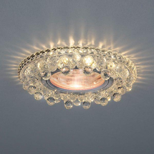 Встраиваемый потолочный светильник с LED подсветкой 2211 MR16 CL прозрачный 2