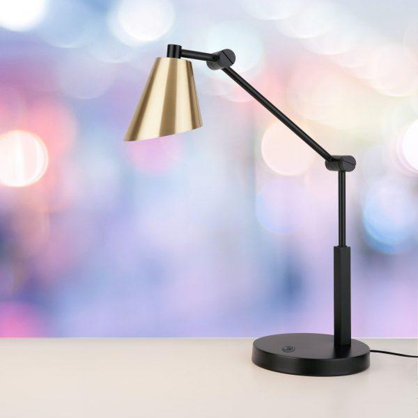 Настольный светодиодный светильник Fabula сатинированное золото TL70100 3