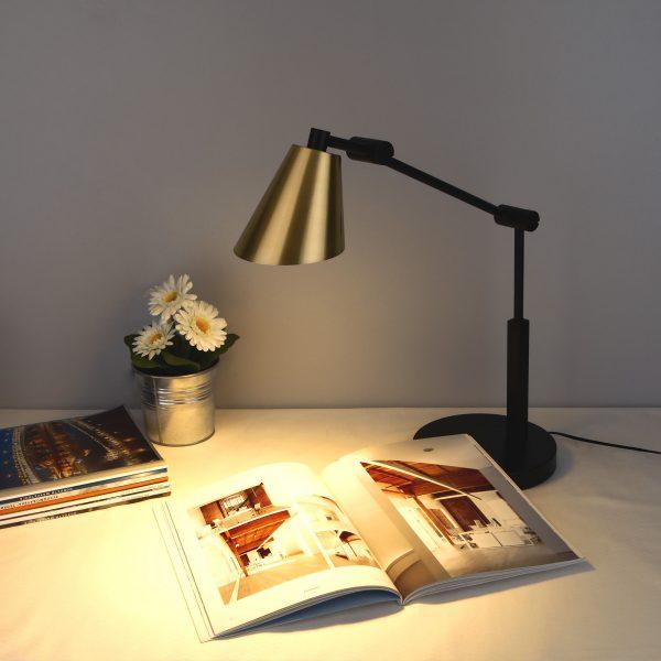 Настольный светодиодный светильник Fabula сатинированное золото TL70100 2