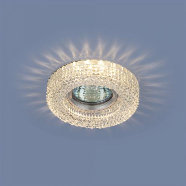 Встраиваемый потолочный светильник с LED подсветкой 2213 MR16 CL прозрачный 1