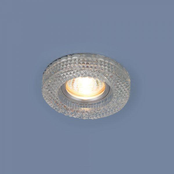 Встраиваемый потолочный светильник с LED подсветкой 2213 MR16 CL прозрачный 2