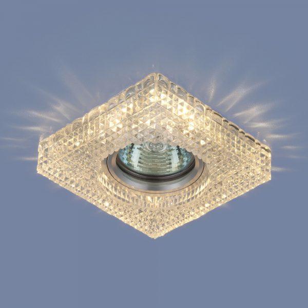 Встраиваемый потолочный светильник с LED подсветкой 2214 MR16 CL прозрачный 1
