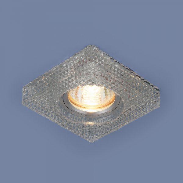 Встраиваемый потолочный светильник с LED подсветкой 2214 MR16 CL прозрачный 2