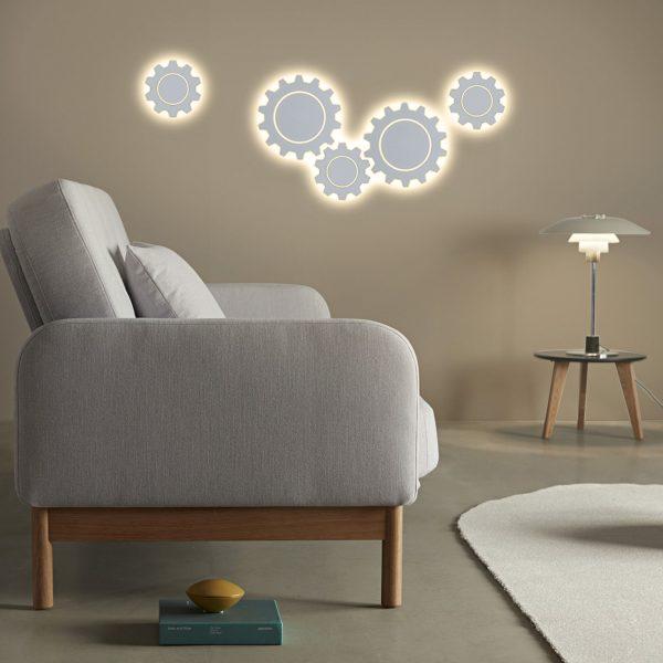 Gear M LED белый Настенный светодиодный светильник MRL LED 1095 4