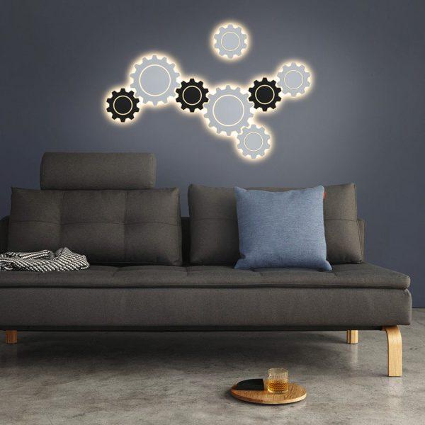 Gear M LED белый Настенный светодиодный светильник MRL LED 1095 1