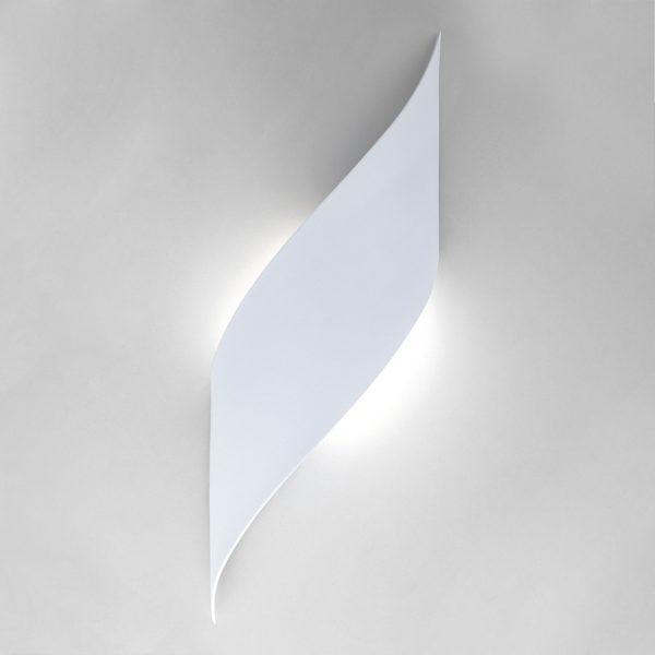 Настенный светодиодный светильник белый 40130/1 LED белый 2